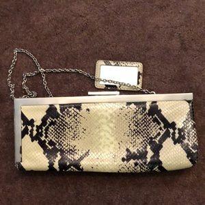 Calvin Klein snakeskin clutch purse